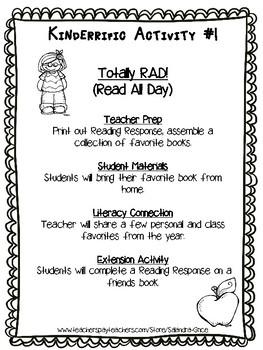 Kindergarten End of the Year Activities Bundle