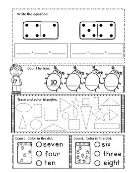 Kindergarten End of the Year MATH