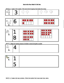 Kindergarten End of the Year Math Assessment