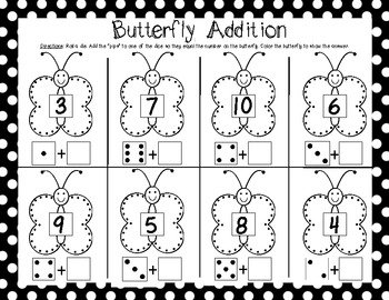 Kindergarten End of the Year Math Games {Fluttering off to First Grade!}