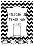 Kindergarten End of the Year Memory Book {Color and B&W}