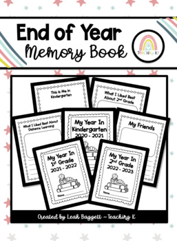 Kindergarten End of the Year Memory Book Activity
