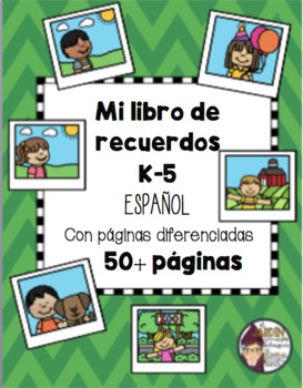 Kindergarten End of the Year Memory Book in English and Spanish`