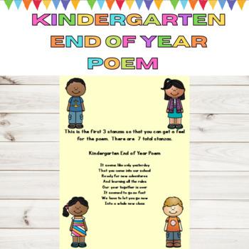 Kindergarten End of the Year Poem