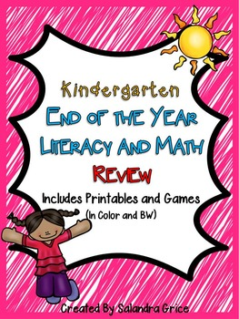 Kindergarten End of the Year Review