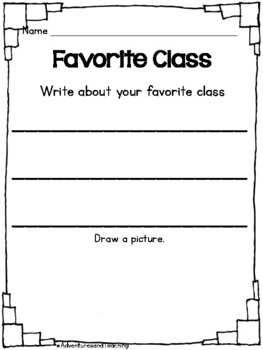Kindergarten End of the Year Writing and Fun Pack