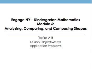 Kindergarten Engage NY Mathematics Module 6 Application Problems