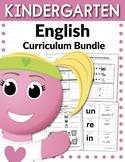 Kindergarten English Curriculum Bundle (Worksheets, Activi