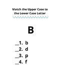 Kindergarten English Language Arts Quiz