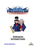 Kindergarten Enrichment Packet for Presidents Day