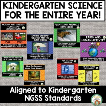 Kindergarten Entire Year Bundle NGSS