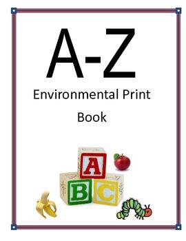 Kindergarten Environmental Print Book- Block Letters
