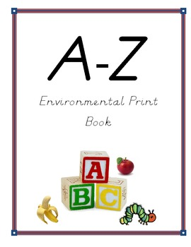 Kindergarten Environmental Print Book- D'Nealian