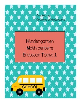 Kindergarten Envision Math Centers Topic 1