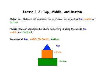 Kindergarten Envision Math Posters - Topic 2