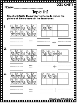 Kindergarten Envision Math Topic 11
