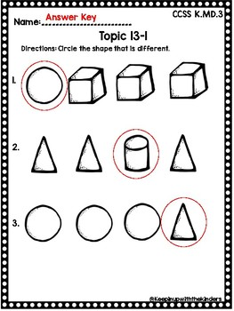 Kindergarten Envision Math Topic 13