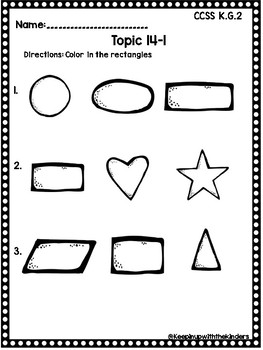 Kindergarten Envision Math Topic 14