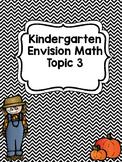 Kindergarten Envision Math Topic 3 Worksheets