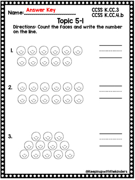 Kindergarten Envision Math Topic 5