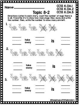 Kindergarten Envision Math Topic 8