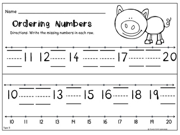 Kindergarten Math - Topic 5: Numbers to 20