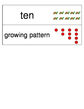 Kindergarten Envisions Math Vocabulary Cards Topic 3