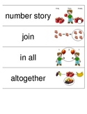Kindergarten Envisions Math Vocabulary Cards Topic 7