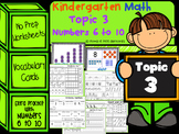 Kindergarten Math - Topic 3, Numbers 6 to 10