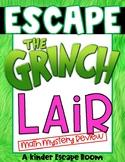 Kindergarten Escape Room: Escape the Grinch's Lair (Math Review)