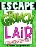 Kindergarten Escape Room: Escape the Grinch's Lair (Sight Words)