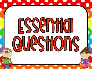 Kindergarten Essential Questions Florida