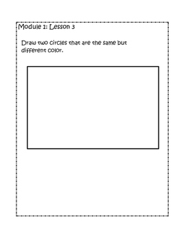 Kindergarten Eureka/Engage NY Math Module 1 Application Problems