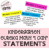 """Kindergarten Eureka Math """"I Can"""" Statements"""