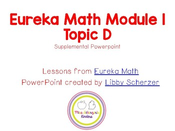 Kindergarten Eureka Math Supplemental Powerpoint- Module 1, Topic D