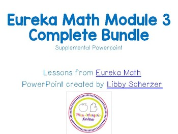 Kindergarten Eureka Math Supplemental Powerpoint- Module 3 Complete Set