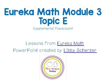 Kindergarten Eureka Math Supplemental Powerpoint- Module 3, Topic E