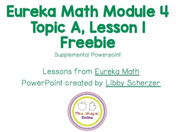 Kindergarten Eureka Math Supplemental Powerpoint- Module 4, Lesson 1