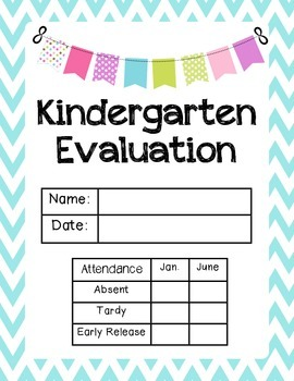 Kindergarten Evaluation
