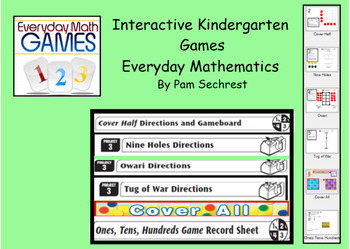 Kindergarten -Everyday Math Interactive Games