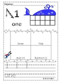 Kindergarten Everyday Math Name Collection Posters  (1-20)