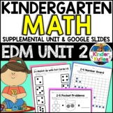 Kindergarten Everyday Math Unit 2 Worksheet & Vocabulary Bundle CCSS Aligned
