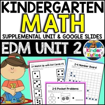 Kindergarten Everyday Math Unit 2 Worksheet & Vocabulary B