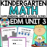 Kindergarten Math - EDM UNIT 3 Supplemental Worksheet & Vocab | Google Slides