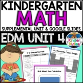 Kindergarten Everyday Math Unit 4 Worksheet & Vocabulary Pack CCSS Aligned