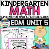 Kindergarten Everyday Math Unit 5 Worksheet & Vocabulary Pack CCSS Aligned