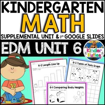 Kindergarten Everyday Math Unit 6 Worksheet & Vocabulary Bundle CCSS Aligned