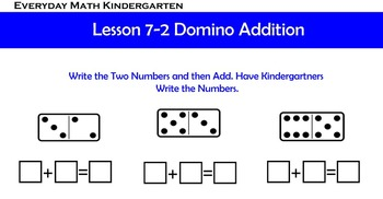 Kindergarten Everyday Math lesson 7.4