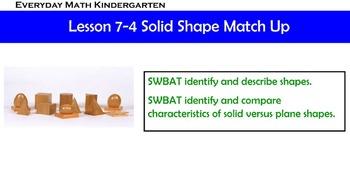 Kindergarten Everyday Math lesson 7.4
