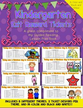 Kindergarten Exit Reward Tickets~ A Compliment to the GR L